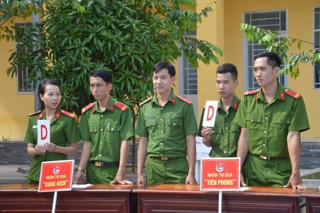 Thượng sĩ Ngọc Điểm trong một lần tham gia hoạt động Đoàn thanh niên.