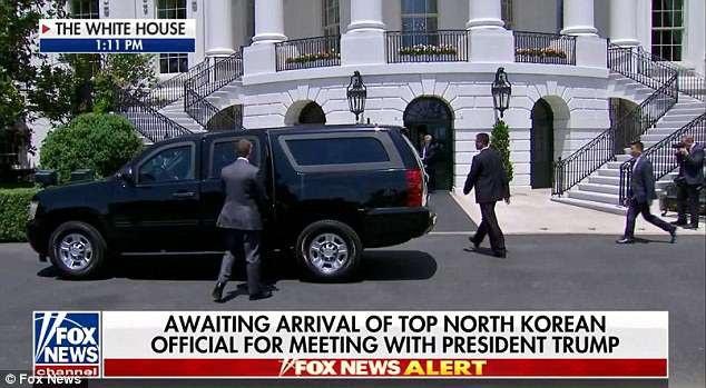 Phái đoàn Triều Tiên do Phó Chủ tịch Ủy ban Trung ương Đảng Lao động Triều Tiên Kim Yong-chol dẫn đầu ngày 1/6 đã có chuyến đi tới Nhà Trắng ở Washington sau khi kết thúc 2 ngày hội đàm với Ngoại trưởng Mỹ Mike Pompeo tại New York. (Ảnh: Fox)
