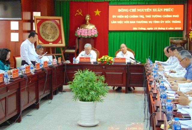 Thủ tướng Chính phủ Nguyễn Xuân Phúc cùng đoàn công tác Chính phủ vừa có buổi làm việc với tỉnh Sóc Trăng.