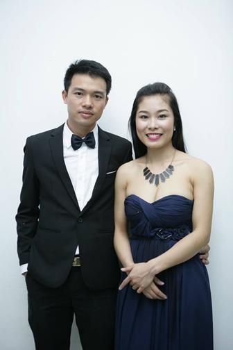 Vợ chồng Đăng Linh - Thanh Nga luôn hỗ trợ nhau trong công việc