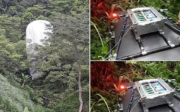 Hình ảnh vật thể lạ được lan truyền trên mạng xã hội Facebook.