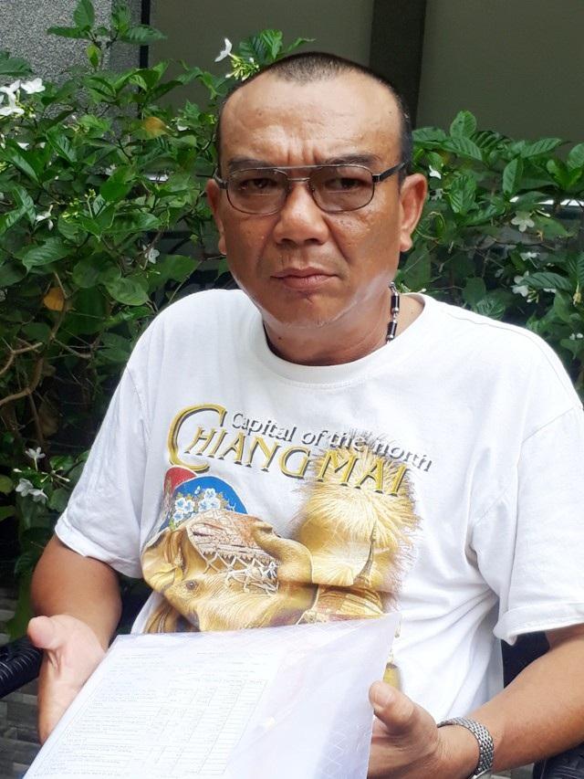 Ông Trần Văn Hùng nhiều năm đi đòi quyền lợi.