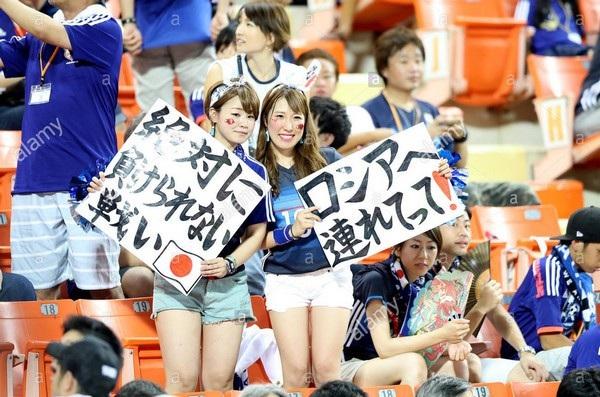 Các cổ động viên Nhật Bản đã để lại ấn tượng đẹp tại World Cup 2018