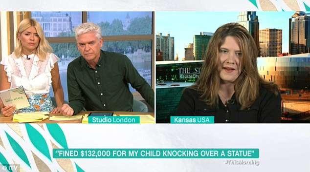 Chị Sarah Goodman xuất hiện trong cuộc phỏng vấn với bản tin buổi sáng This Morning của truyền hình Anh