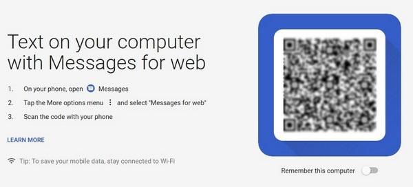 Người dùng smartphone Android nhận và gửi tin nhắn trực tiếp từ máy tính - 1
