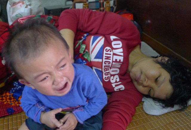 Ngọc Lâm từ khi sinh ra gần như phải xa mẹ vì mẹ phải đi bệnh viện.