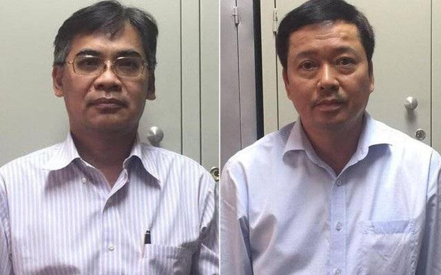 Ông Từ Thành Nghĩa (trái) và Võ Quang Huy.