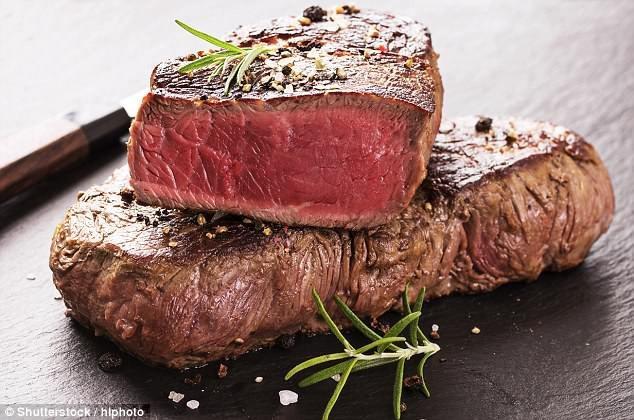 Thịt đỏ làm tăng oestrogen, có thể dẫn tới lạc nội mạc tử cung.