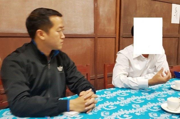 PV Dân trí làm việc với thầy B. Hiệu trưởng trường tại xã Bình Thành, Thị xã Hương Trà vụ việc 1 nữ giáo viên khi đang trực trường bị nam thanh niên xông vào hiếp dâm