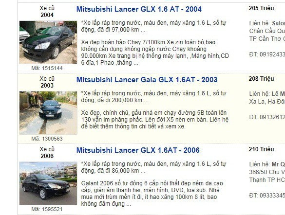 Nhiều chiếc xe ô tô cũ mang thương hiệu Nhật Bản đang được rao bán hơn 200 triệu đồng.