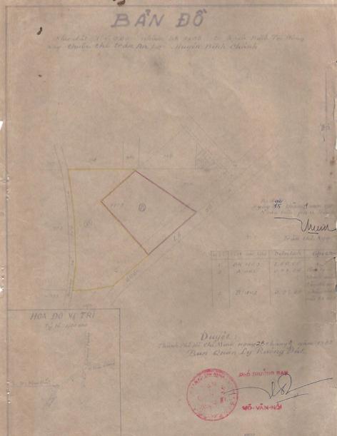 Giấy tờ liên quan đến mảnh đất 16.000m2 của bà Đề.