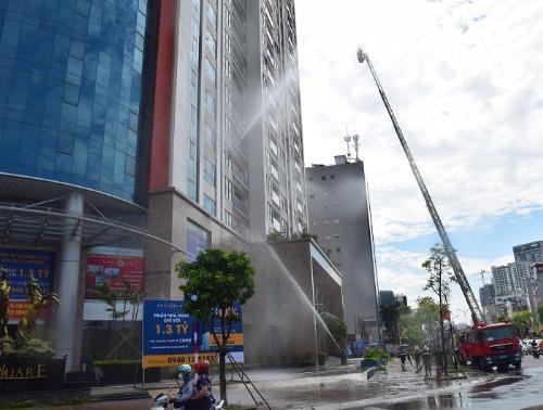Diễn tập Phòng cháy chữa cháy tại Sun Square