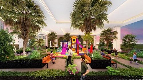 Sunshine Garden hi sinh diện tích thương mại để xây dựng vườn sinh hoạt cộng đồng cho cư dân.