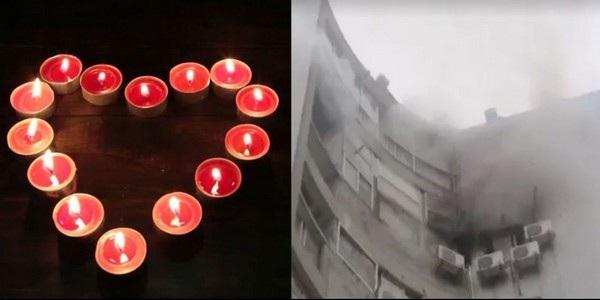 Những ngọn nến được xếp thành hình trái tim để cầu hôn (ảnh minh họa) và khách sạn bị thiêu rụi vì những cây nến này
