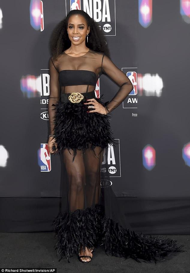 Kelly Rowland gợi cảm dự lễ trao giải NBA tổ chức tại Mỹ ngày 25/6 vừa qua