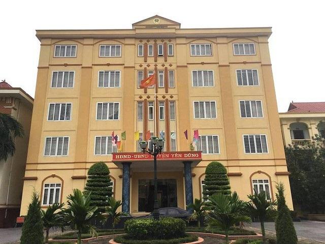 UBND huyện Yên Dũng, nơi để xảy ra nhiều vụ việc buông lỏng quản lý đất đai để lại hậu quả nghiêm trọng.