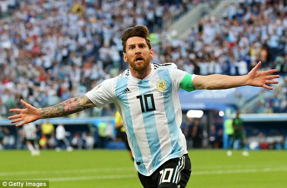 Niềm vui của Lionel Messi