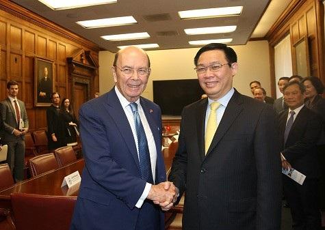 Phó Thủ tướng làm việc với Bộ trưởng Thương mại Hoa Kỳ Wilbur Ross