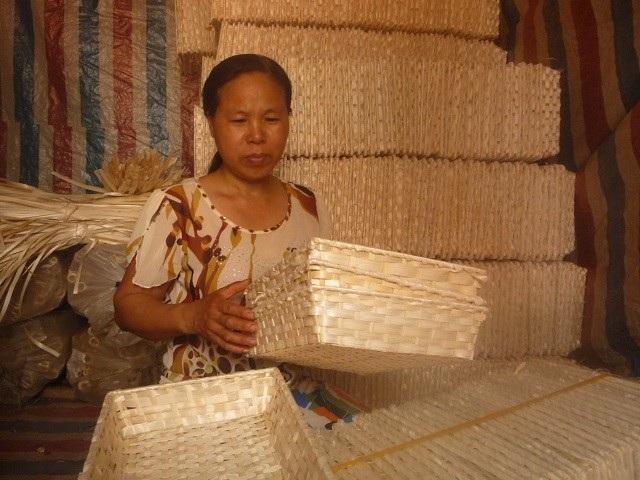 Nghề mây tre đan thôn Thái Hòa, Hợp Đồng, Chương Mỹ. Ảnh:Phương Nga