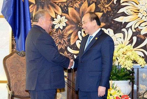 Thủ tướng Nguyễn Xuân Phúc tiếp Tổng thống Cộng hòa Nauru - Baron Waqa