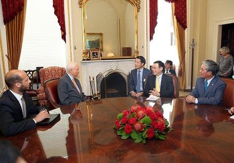 Phó Thủ tướng làm việc với Chủ tịch Thượng viện tạm quyền - Thượng nghị sỹ Orrin Hatch
