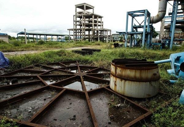 Một góc Nhà máy Gang thép Thái Nguyên