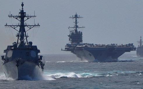 Mỹ sẽ điều thêm nhiều tàu chiến để gia tăng áp lực với Trung Quốc ở Biển Đông. Ảnh: AP