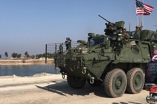 Một xe quân sự Mỹ ở Syria (Ảnh minh họa: Twitter)