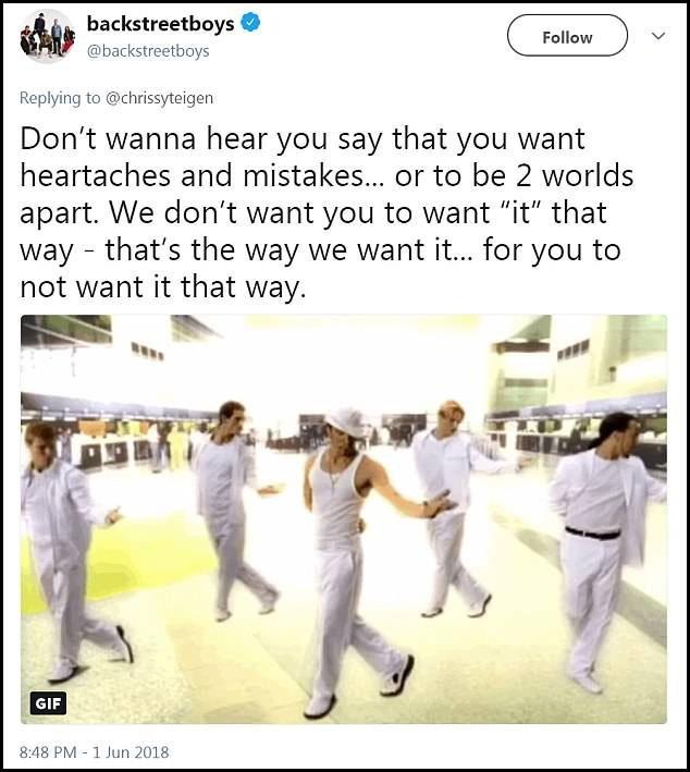Hồi đáp của Backstreet Boys trên mạng xã hội