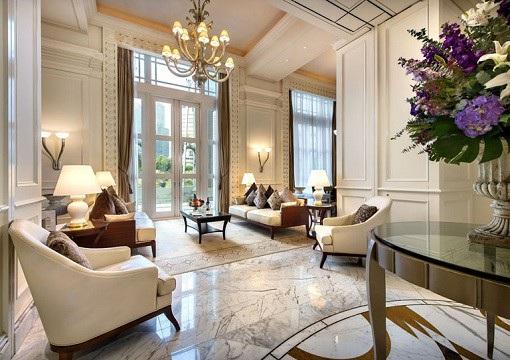Trong số 28 phòng VIP, phòng tổng thống nằm ở tầng hai của khách sạn được trang bị tiện nghi nhất và có giá phòng đắt đỏ nhất, lên tới 6.000 USD/đêm. (Ảnh: Finance Twitter)