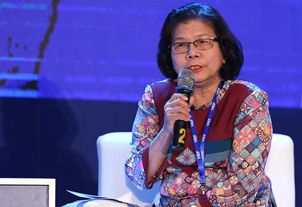 Bà Vũ Kim Hạnh - Chủ tịch Hội doanh nghiệp hàng Việt Nam chất lượng cao.