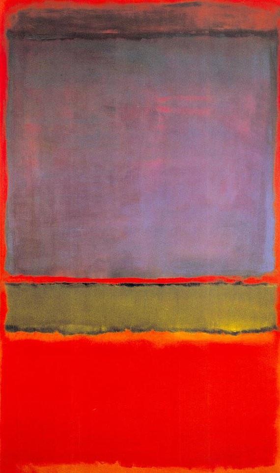 """6. Bức """"No. 6 (Violet, Green and Red)"""" - danh họa người Mỹ Mark Rothko — 186 triệu USD"""