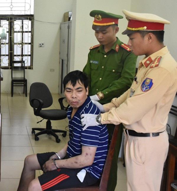 Đối tượng Thành bị cơ quan công an bắt giữ.