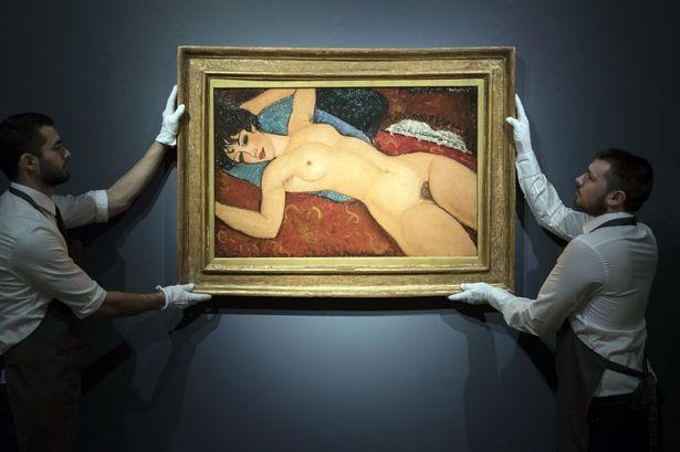 "9. Bức ""Nu Couché"" - danh họa người Ý Amedeo Modigliani — 170,4 triệu USD"