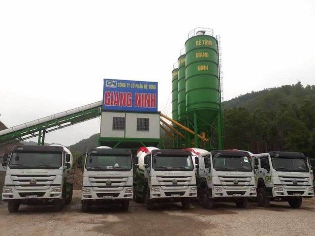 Công ty cổ phần bê tông Giang Ninh với dây chuyền và cơ sở hạ tầng hoạt động rầm rộ.