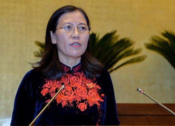 Bà Lê Thị Nga, Chủ nhiệm Uỷ ban Tư pháp của Quốc hội.Ảnh: Q.H