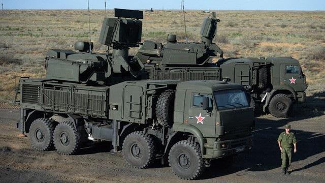 Hệ thống phòng không tầm ngắn và tầm trung Pantsir-S1. (Ảnh: Sputnik)