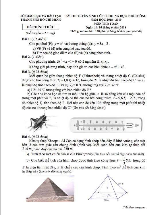 Sở GD-ĐT TPHCM công bố đáp án thi lớp 10 - 2