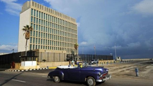 Đại sứ quán Mỹ tại Havana (Ảnh: AFP)