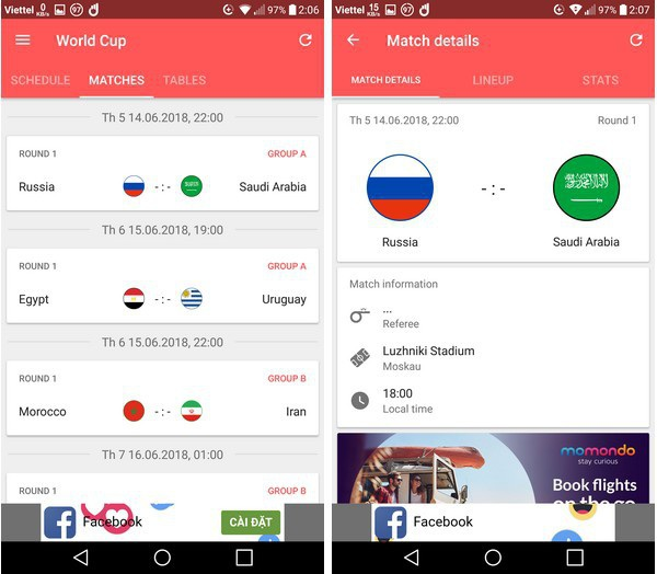 Lịch thi đấu thông minh - Ứng dụng không thể thiếu trên smartphone trong mùa World Cup - 3