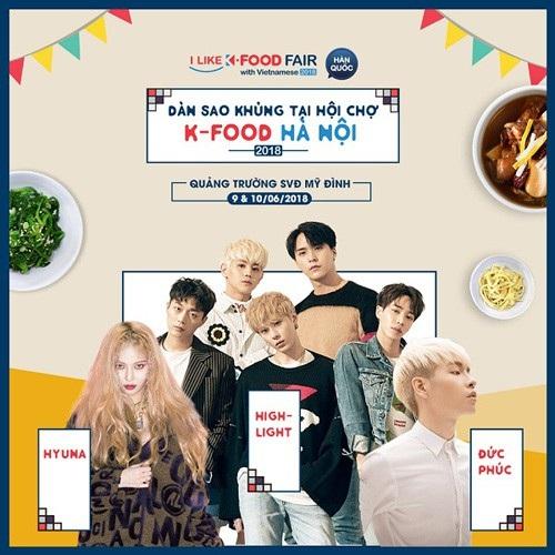 Hội chợ ẩm thực Hàn Quốc 2018 - 2