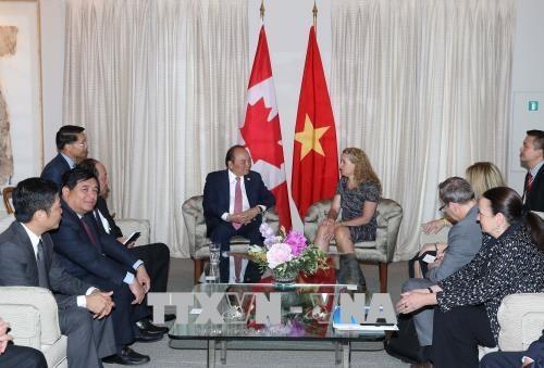 Thủ tướng Nguyễn Xuân Phúc gặp Toàn quyền Canada Julie Payette. Ảnh: Thống Nhất –TTXVN.