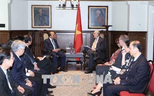 Thủ tướng Nguyễn Xuân Phúc tiếp ông Angel Gurria, Tổng thư ký Tổ chức Hợp tác và Phát triển Kinh tế (OECD). Ảnh: Thống Nhất –TTXVN