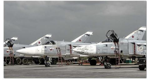Căn cứ không quân Hmeymim của Nga ở Syria.