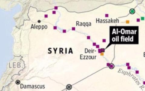 Mỹ và người Kurd đang kiểm soát các mỏ dầu phía Đông sông Euphrates (Deir Ezzor)