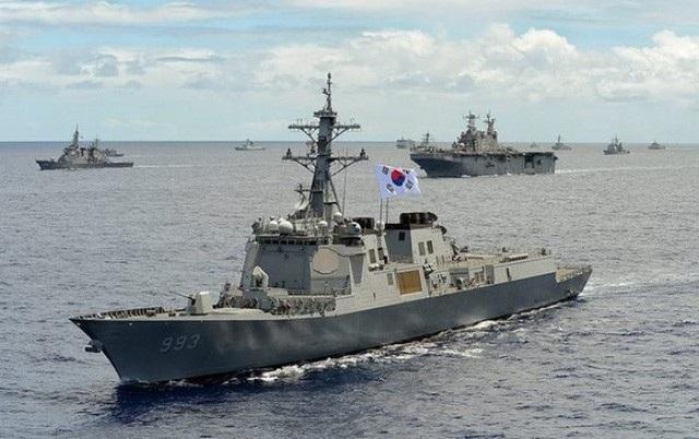 Tàu khu trục Sejong Đại đế của Hàn Quốc (Ảnh minh họa: Quân đội Hàn Quốc)
