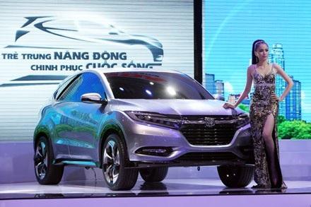 Chiếc xe concept Vezel - tiền thân của HR-V từng xuất hiện tại sự kiện Vietnam Motorshow 2013.
