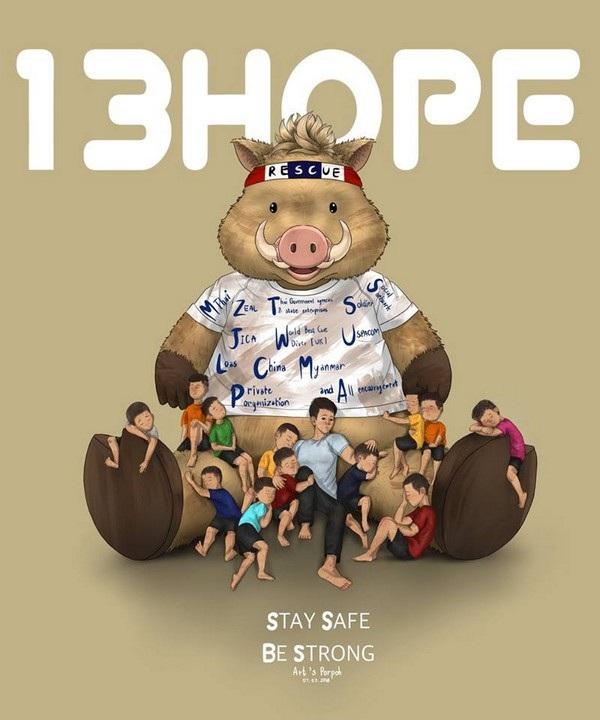 """""""13 niềm hy vọng - Hãy an toàn và mạnh mẽ"""", một lời chúc khác của cư dân mạng dành cho đội bóng bị mắc kẹt"""