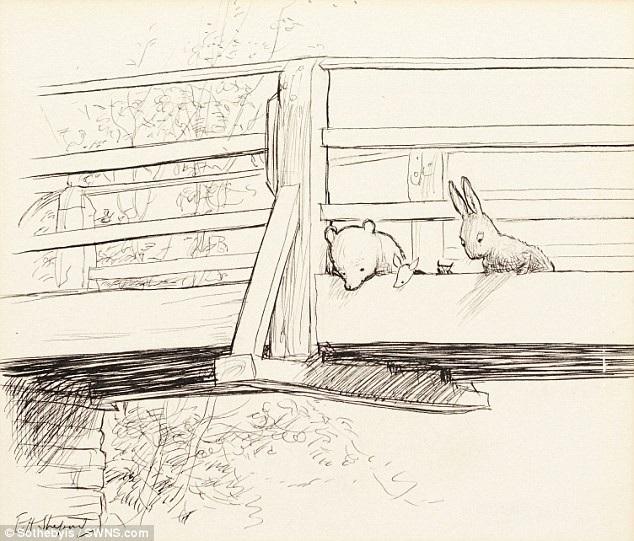 """Một phác họa xuất hiện trong tập truyện thứ hai - """"The House at Pooh Corner"""" (1928)."""