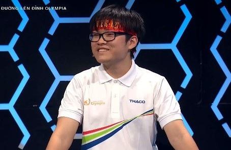 Hoàng Đức Thuận – nam sinh Phú Thọ đạt điểm 10 môn Toán từng đạt giải Nhì ở vòng thi Quý, cuộc thi Olympia 2017 (Ảnh: VTV).